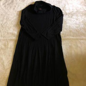 R&K Black Cowl Neck Sweater Dress
